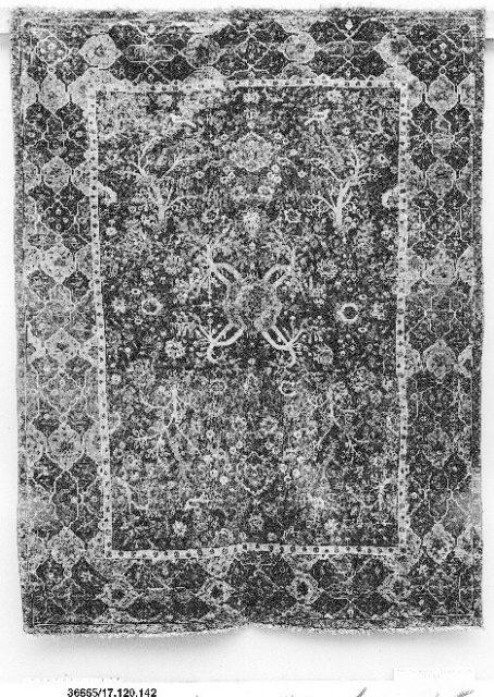 Carpet with Tree and Bird Design