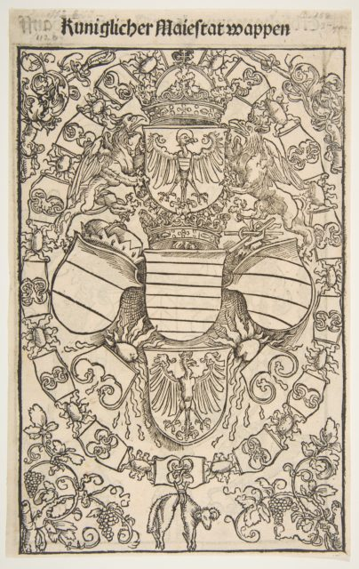 Coat of Arms of Maximilian I as King of the Romans from Reuelationes sancte Birgitte