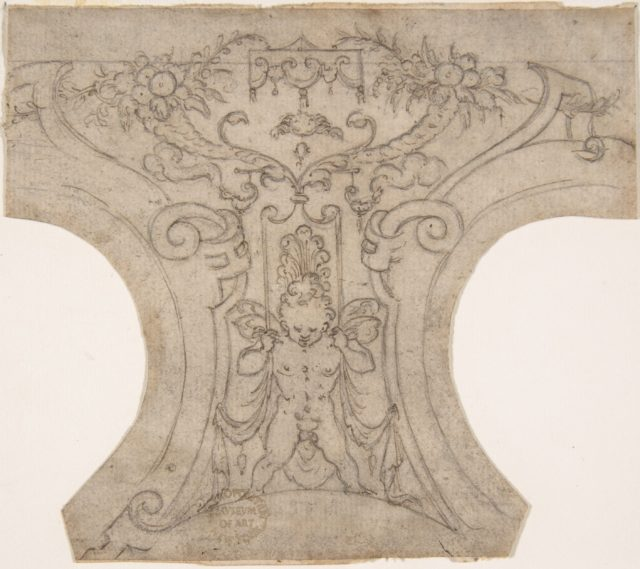 Decoration for a Spandrel in a Cove