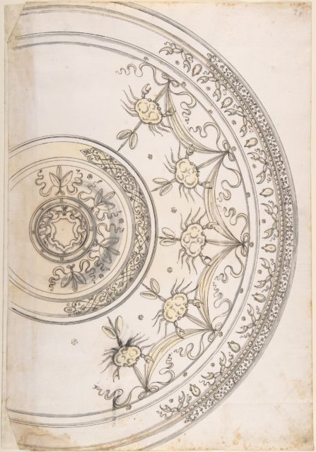 Design for Silver Plate Decorated with Crabs