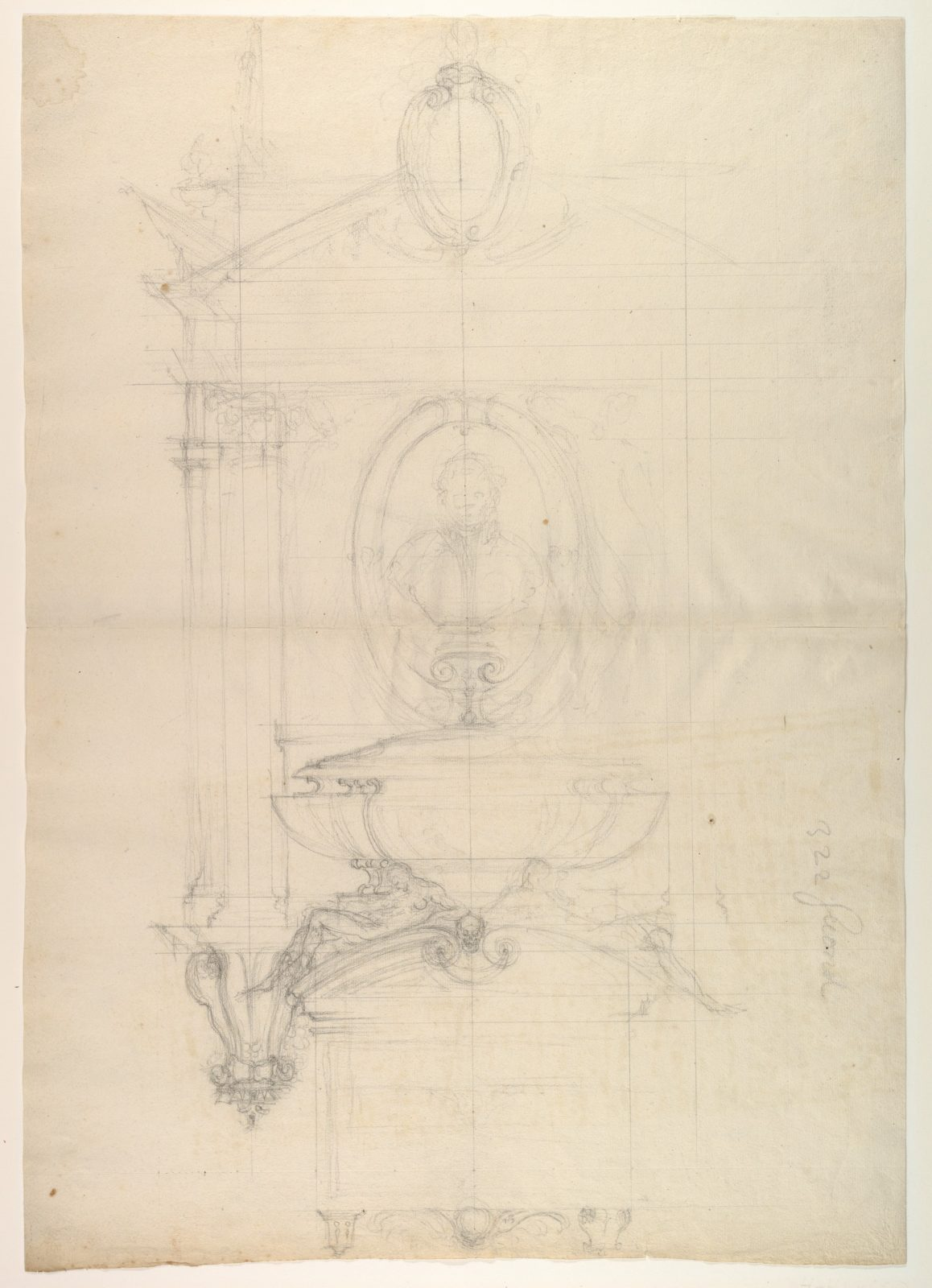 Design for the Tomb of Christophe de Thou (d. 1582)
