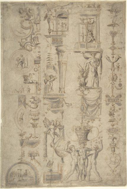 "Design of Antique-Style Ornament (""Grotteschi"")"