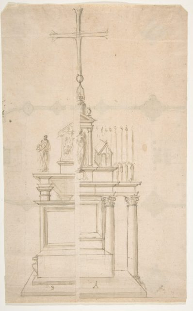 Elevation of a Main Altar with an Alternate Design