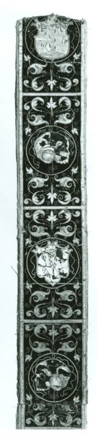 Four fragments of Orphrey Bands Made into a Panel