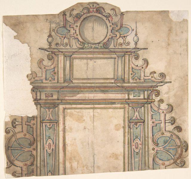 Fragment of  design for architectural frame