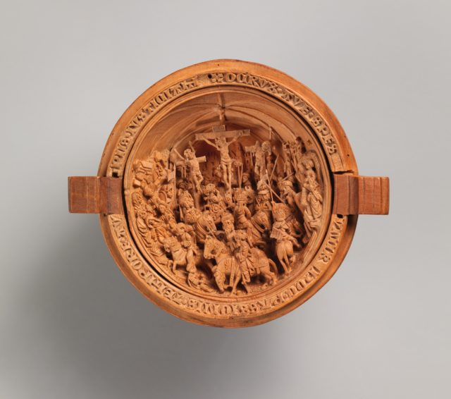 Half of a Prayer Bead with the Crucifixion