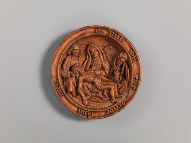 Half of a Prayer Bead with the Lamentation