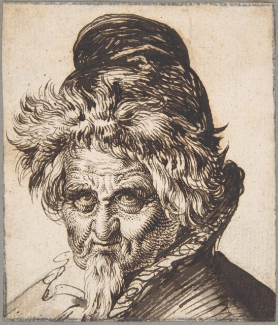 Head of a Bearded Man Wearing a Cap