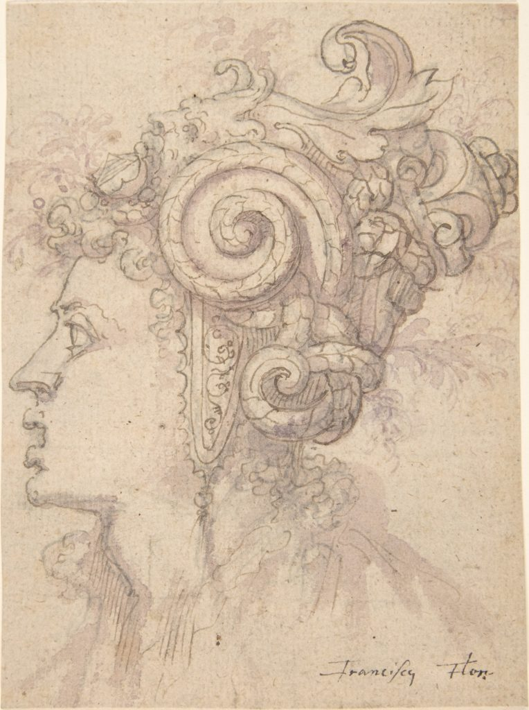 Head of a Woman with Helmet Looking Left