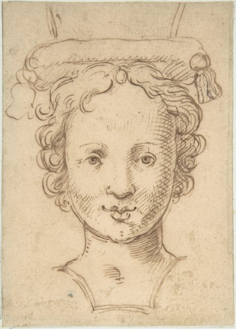 Head of a Young Woman, a Probable Finial for Fountain or other Type of Waterwork.