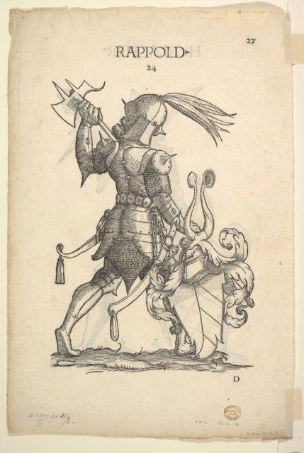 Hurlacher (recto) and Rappold (verso) Families, from Paul Hector Mair's Bericht und anzeigen aller Herren Geschlecht der loblichen Statt Augspurg