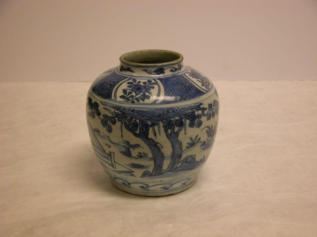 Jar with scene of Wang Xizhi (303–361) watching geese