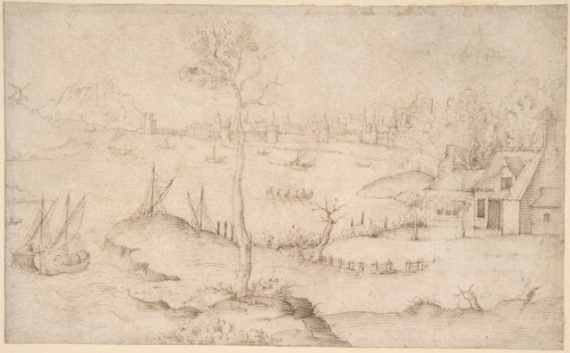 Landscape with a Walled City and a Large Body of Water