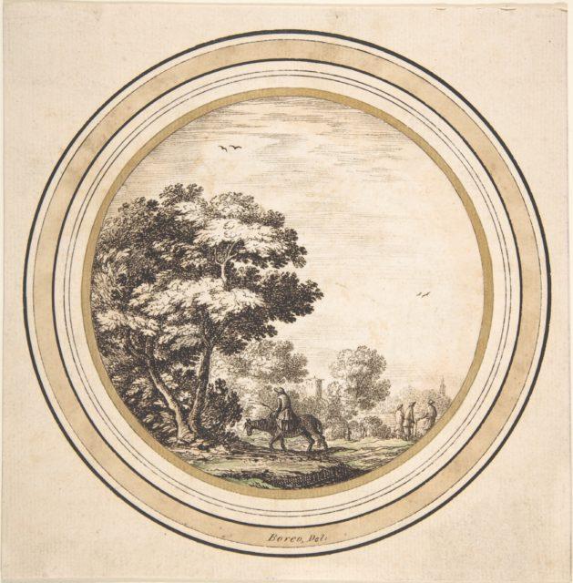 Man on a Donkey in a Landscape