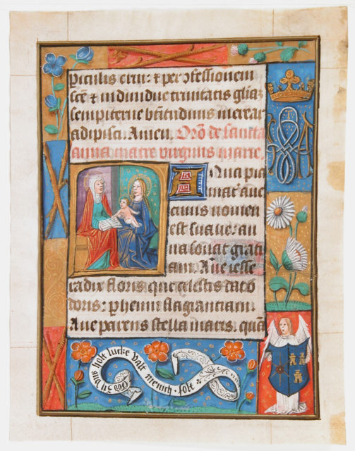 Manuscript Leaf from a Book of Hours