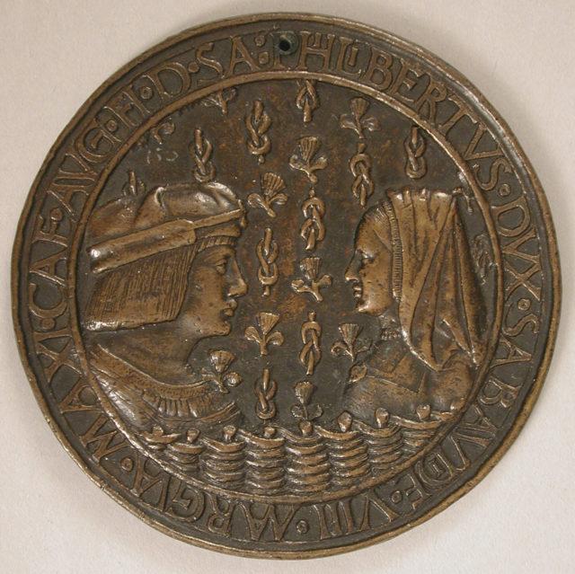 Medal of Duke Philibert II of Savoy (1480–1504) and Margaret of Austria (1480–1530)