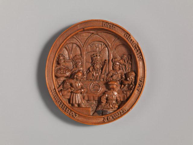 Medallion with the Feast of Ahasuerus