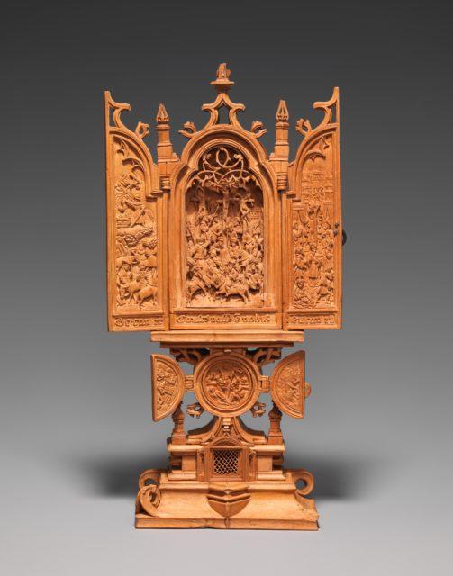Miniature Altarpiece with the Crucifixion