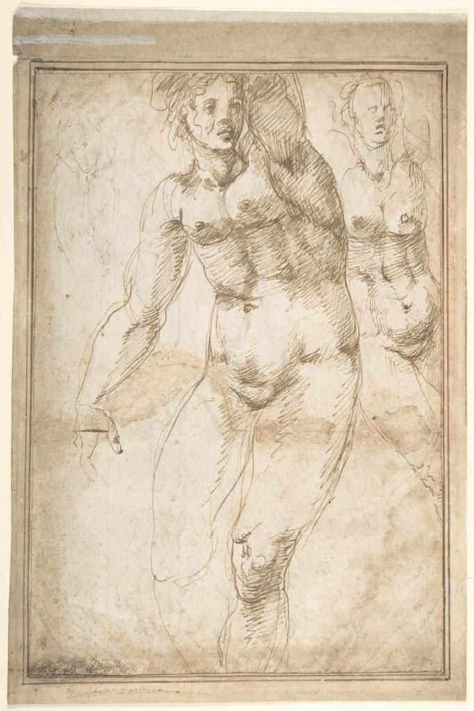 Nude Figure Studies (Recto); Sheet of Figure Studies (Verso)