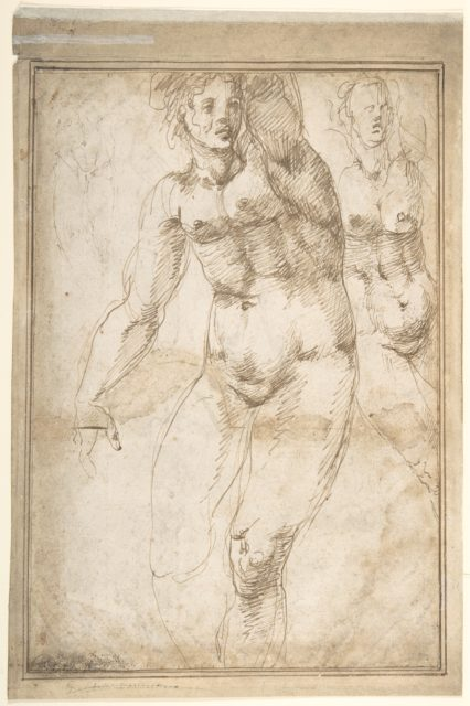 Nude Figure Studies (Recto); Sheet of Figure Studies (Verso)