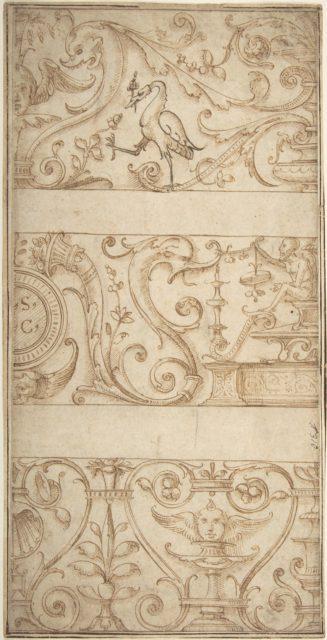 Ornament design after the antique