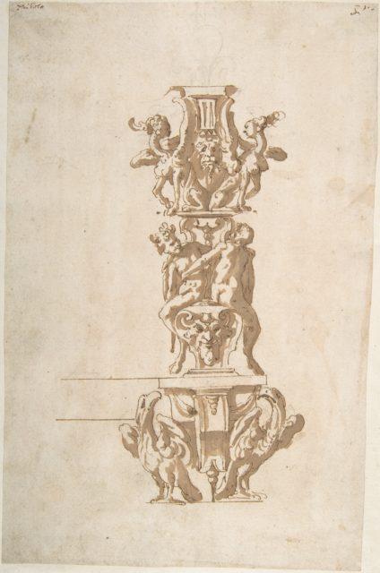 Ornamental Design with Eagles and Mythological Figures