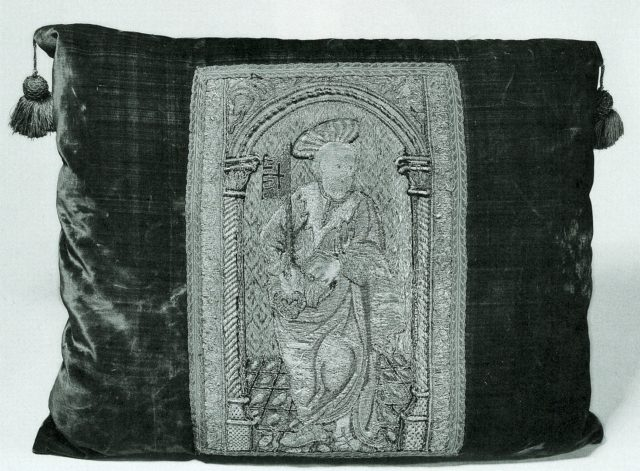 Orphrey Section Made into a Cushion