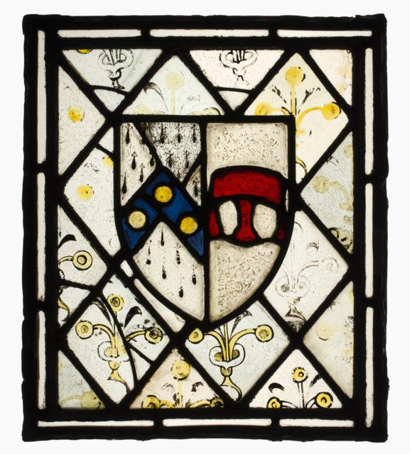 Panel with Heraldic Shield of Johnson