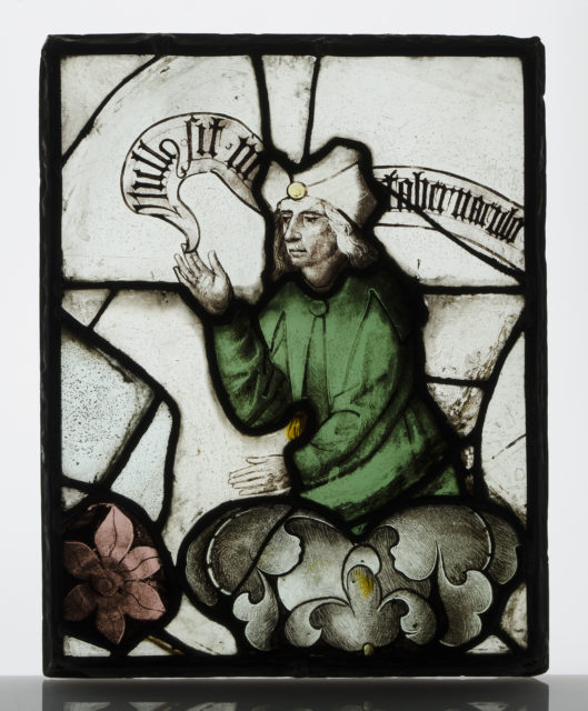 Panel with Prophet from a Tree of Jesse Window