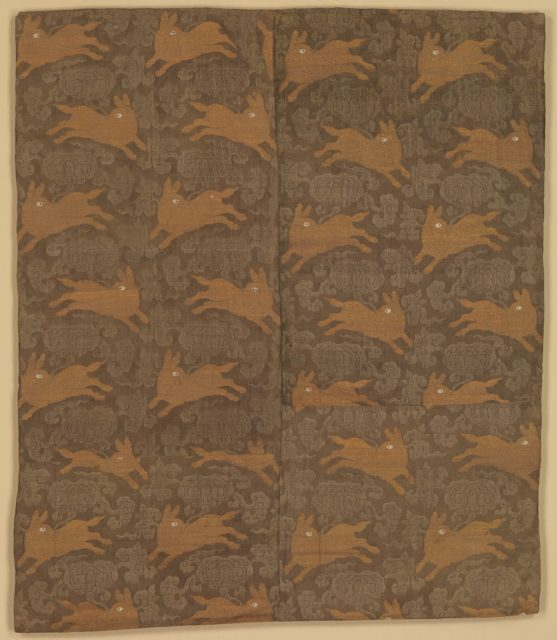 Panel with Rabbits amid Clouds