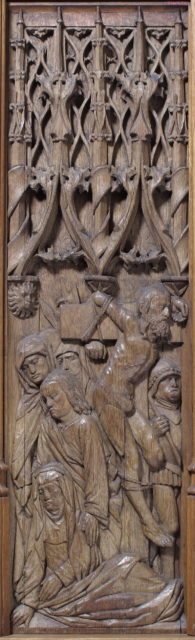 Panel with the Crucifixion of the Good Thief