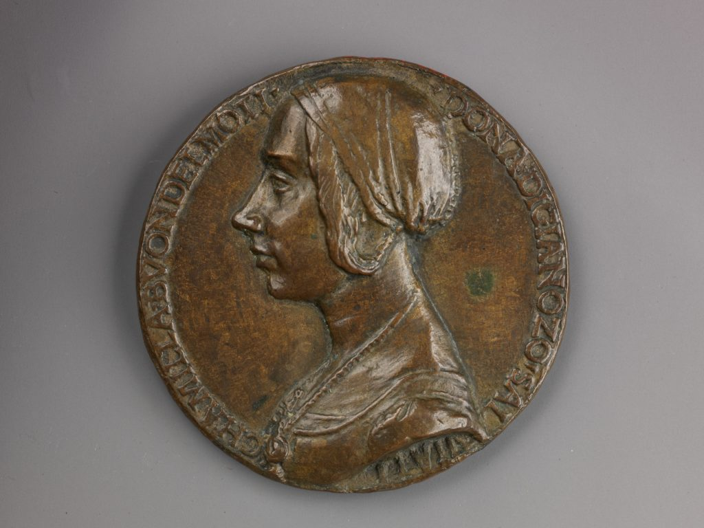 Portrait medal of Camilla Buondelmonti Salviati (obverse); Personification of Hope (reverse)