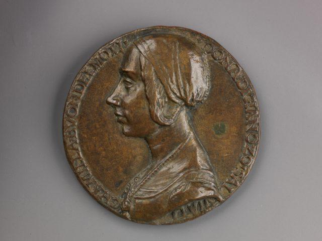 Portrait medal of Camilla Buondelmonti Salviati (obverse); Personification of Hope (reverse)