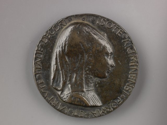 Portrait medal of Isotta degli Atti (obverse); An Elephant (reverse)