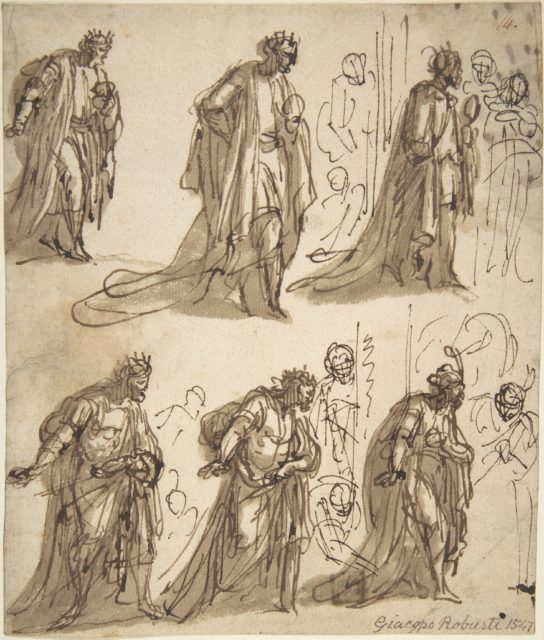 Six Studies of a King for an Adoration