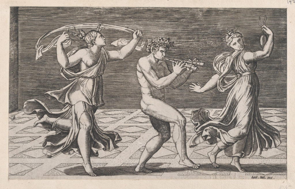 Speculum Romanae Magnificentiae: Dance of Fauns and Bacchants