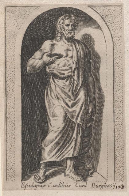 Speculum Romanae Magnificentiae: Esculapius (Esculapius in aedibus Card. Burghesij)