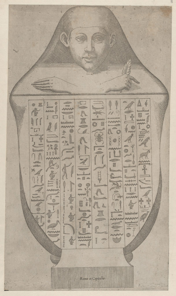 Speculum Romanae Magnificentiae: Face of an Egyptian canopic vase
