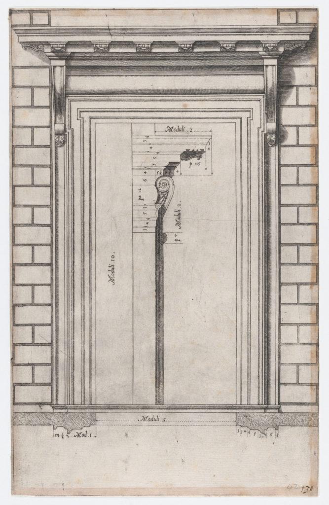 Speculum Romanae Magnificentiae: Plan of a doorway
