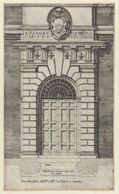 Speculum Romanae Magnificentiae: Porta della fabrica of the Farnese Palace, Caprarola
