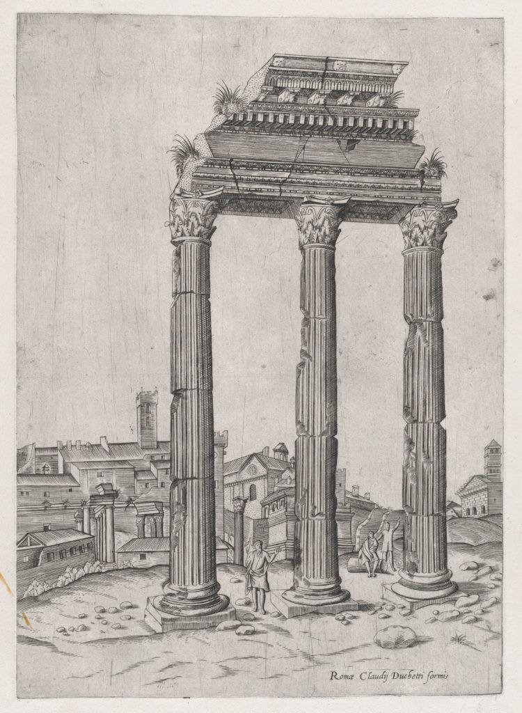 Speculum Romanae Magnificentiae: Portico of the Temple of Julius