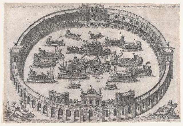 Speculum Romanae Magnificentiae: Roman Naval Battle