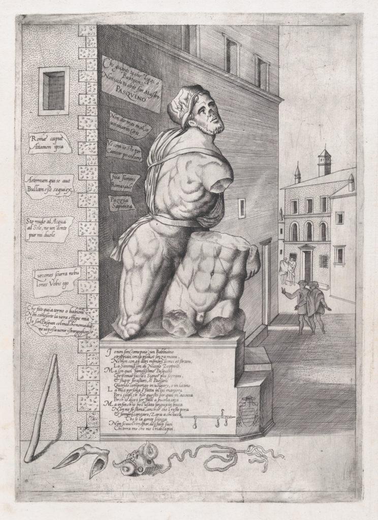 Speculum Romanae Magnificentiae: Statue of Pasquin in the House of Cardinal Ursino