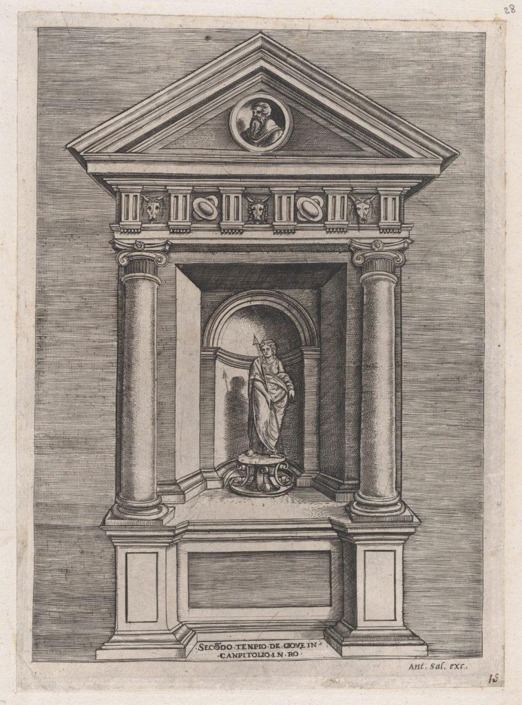 Speculum Romanae Magnificentiae: Temple-Altar of Jove, as a Youth