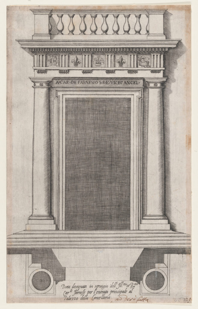 Speculum Romanae Magnificentiae: The Main Doorway of the Palazzo della Cancellaria