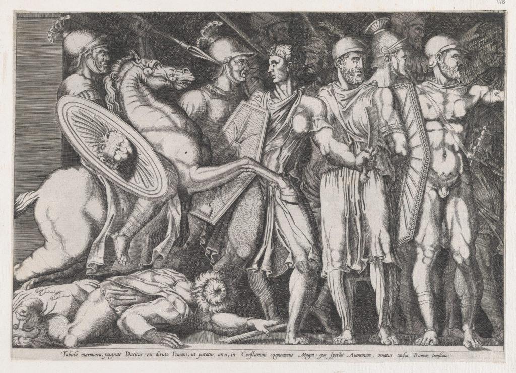 Speculum Romanae Magnificentiae: Trajan Fighting the Dacians