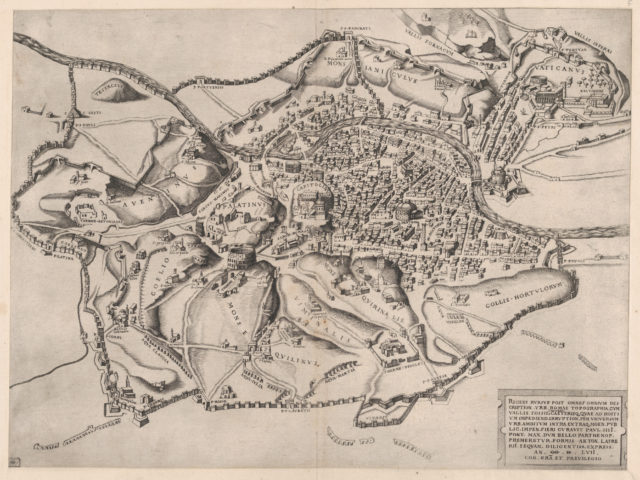 Speculum Romanae Magnificentiae: View of Rome from the East