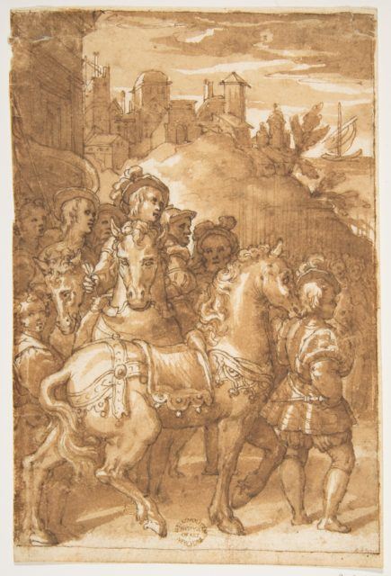 Study for the Armistice between King Francis I of France and Emperor Charles V, fresco in the Palazzo Farnese, Caprarola
