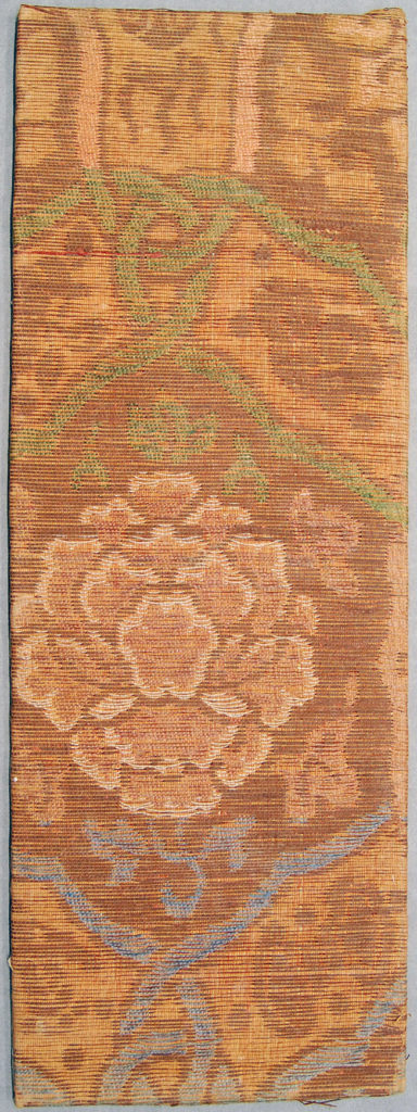 Sutra Cover with Peony and Auspicious Symbols in a Lattice