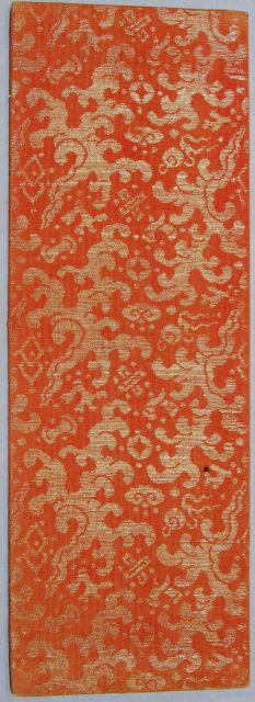 Sutra Cover with Wavelike Clouds and Auspicious Symbols